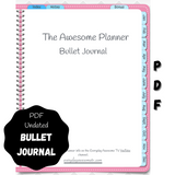 Digital PDF Bullet Journal - Undated - Pink