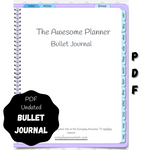 Digital PDF Bullet Journal - Undated - Purple