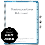Digital PDF Bullet Journal - Undated - Teal