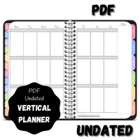 Digital PDF Undated Vertical Awesome Planner - Black