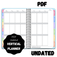 Digital PDF Undated Vertical Awesome Planner - Blue