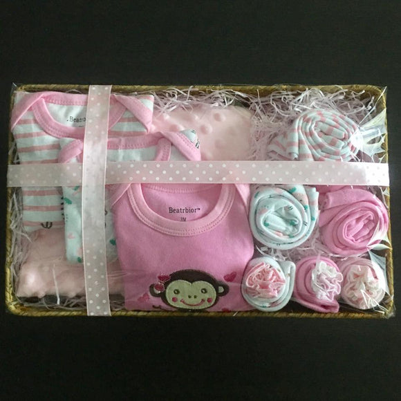 Newborn Baby Hamper - Pink -  The Little Frog Collective | Baby Clothes online store in Australia