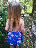 Girls Halter Dinosaur Dress