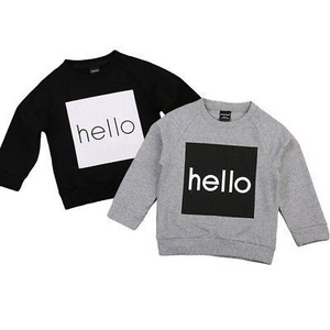 Toddler & Kids 'Hello' Jumper - Grey - sizes 2-6 -  The Little Frog Collective | Baby Clothes online store in Australia