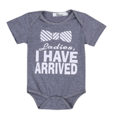 Boys Ladies I Have Arrived Short Sleeve Romper sizes NB-18m -  The Little Frog Collective | Baby Clothes online store in Australia