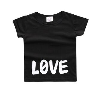 Black Short Sleeve 'LOVE' T-Shirt - sizes 6m-36m -  The Little Frog Collective | Baby Clothes online store in Australia