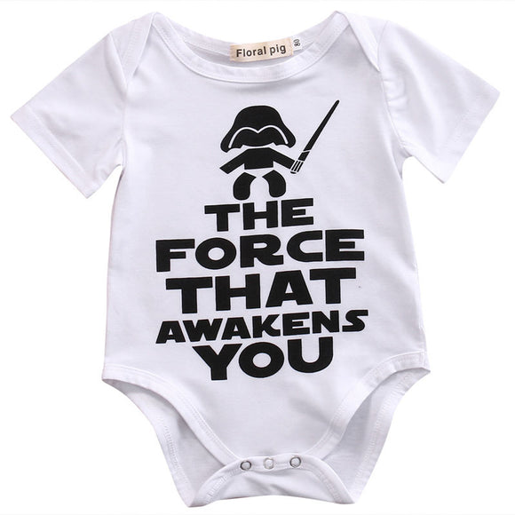 The Force That Awakens You Romper - sizes NB-12m