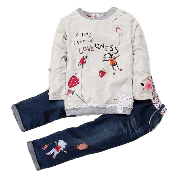Girls 'A Tiny Piece Of Loveliness' Two Piece Clothing Set sizes 2-6 -  The Little Frog Collective | Baby Clothes online store in Australia