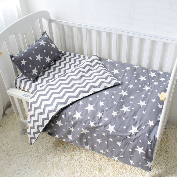 Premium Quality 100% Cotton Baby and Toddler 5 piece Cot Set - Stars -  The Little Frog Collective | Baby Clothes online store in Australia