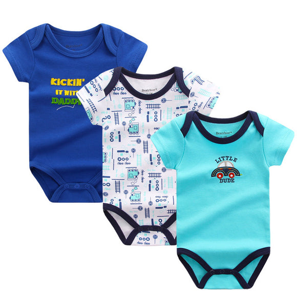 Premium Baby Boys Rompers - 3 pack -  The Little Frog Collective | Baby Clothes online store in Australia