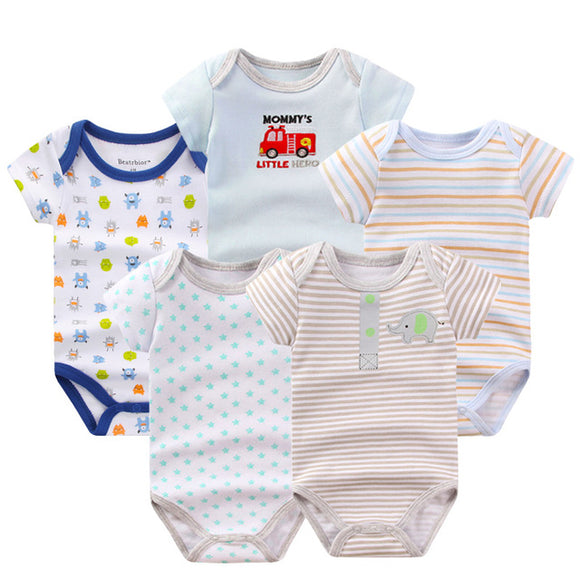 Premium Baby Boys Rompers - 5 pack -  The Little Frog Collective | Baby Clothes online store in Australia