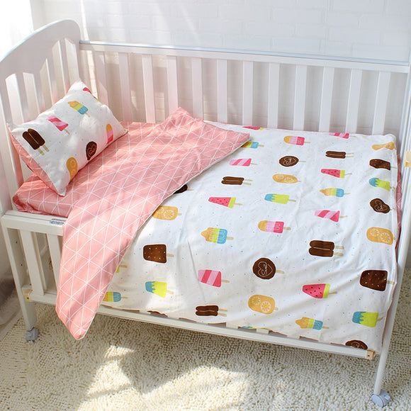 Premium Quality 100% Cotton Baby and Toddler 3 piece Cot Set - Icy Pops -  The Little Frog Collective | Baby Clothes online store in Australia