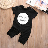 Mama's Boy So What? Playsuit Romper sizes 3m-18m -  The Little Frog Collective | Baby Clothes online store in Australia