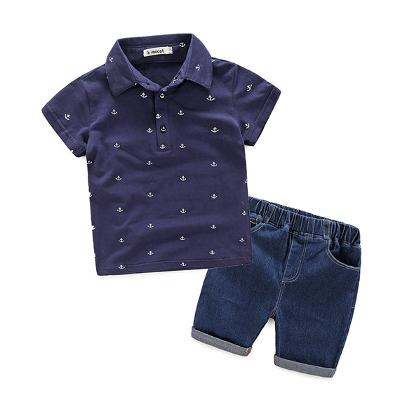 Boys Two Piece Clothing Set - Polo Shirt + Denim Shorts sizes 3-7 -  The Little Frog Collective | Baby Clothes online store in Australia
