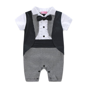 Baby Boys Tuxedo Style Romper -  The Little Frog Collective | Baby Clothes online store in Australia