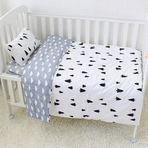 Premium Quality 100% Cotton Baby and Toddler 5 piece Cot Set - Black Tree -  The Little Frog Collective | Baby Clothes online store in Australia