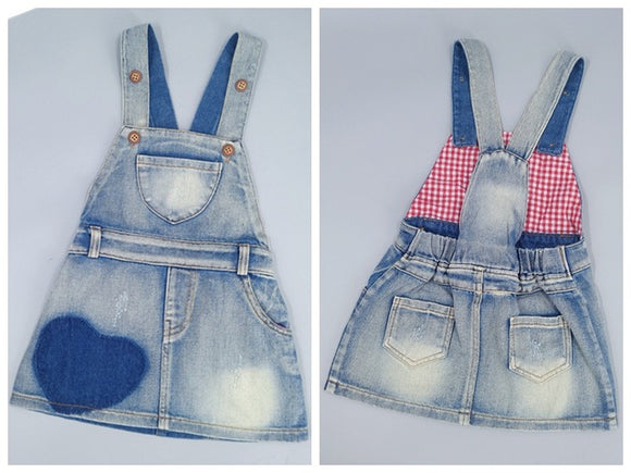 1-4T Baby Girls Suspender Skirts Summer Kids Jeans Dress Overalls Stars Printed Bib Denim Skirts Toddler Clothing Bebe Clothes