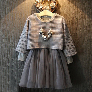 Stunning Silver Winter Party Dress Set Sizes 2 - 6 years