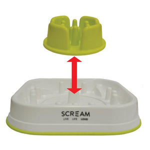 Scream SLOW FEED INTERACTIVE DOG BOWL 28x28x7cm