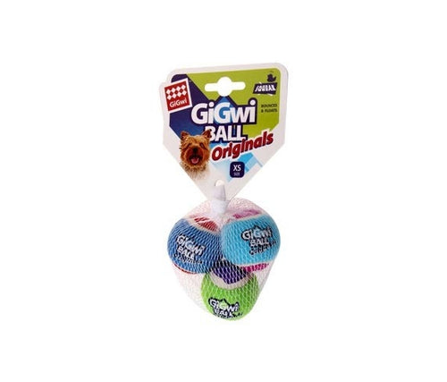 GIGWI TENNIS BALL XSMALL 3PACK