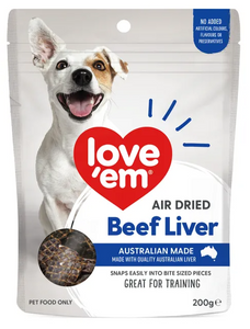 Love em Beef Liver Treats 200 grams