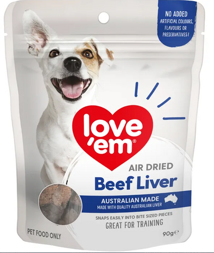 Love em Beef Liver Treats 90grams