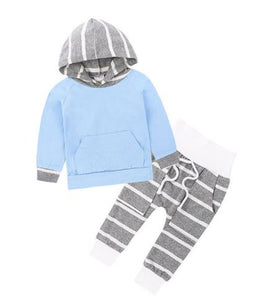 Stripe Hooded Set