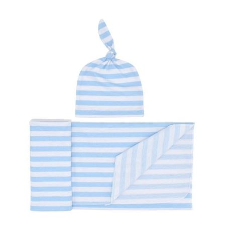 Stripe Swaddle with Hat