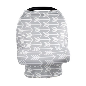 Horizontal arrow grey and white car  seat cover