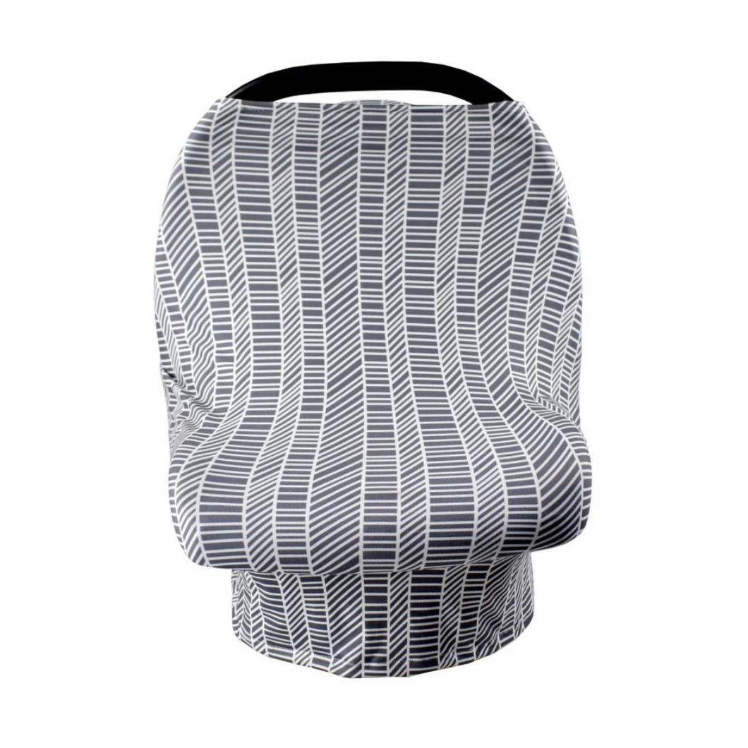 Grey with geometric lines car seat