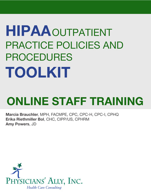 Online Course - HIPAA Outpatient Practice Policies & Procedures
