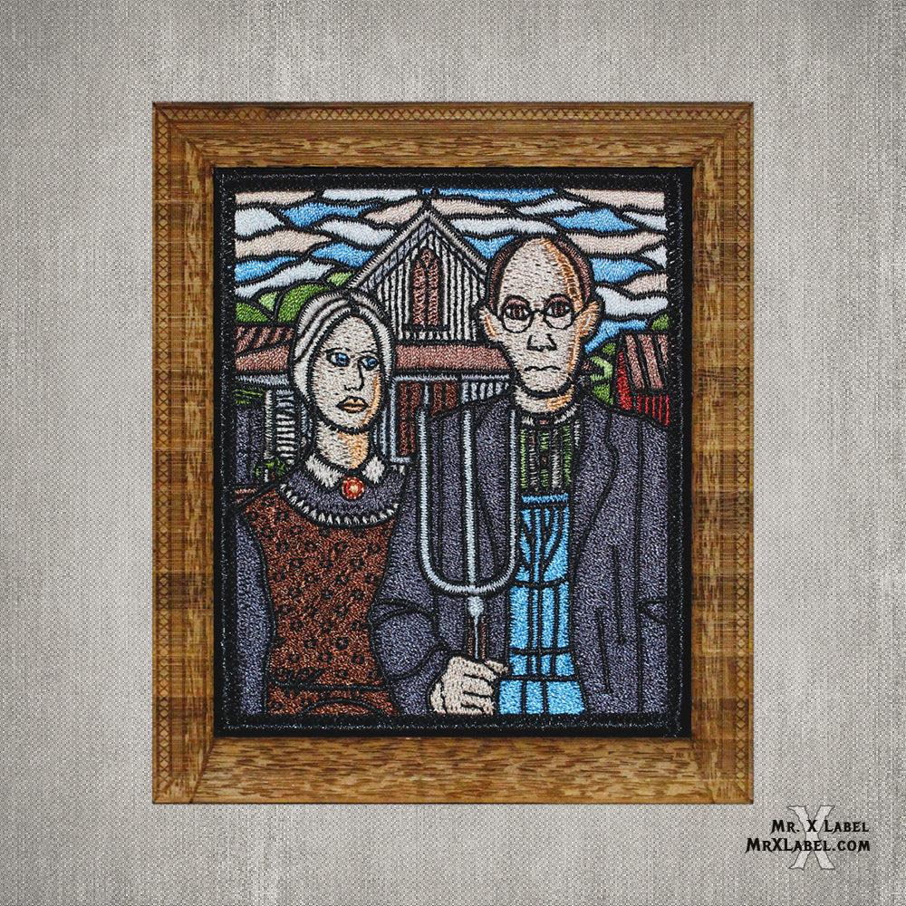 American Gothic Embroidered Patch