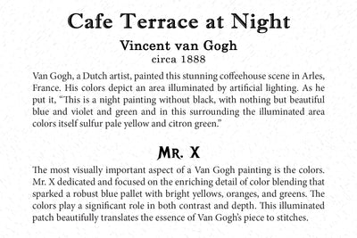 Art Card - Cafe Terrace at Night - Back