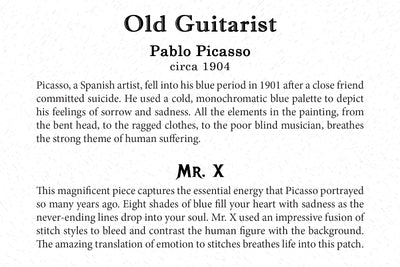 Art Card - Old Guitarist - Back