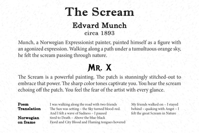 Art Card - The Scream - Back