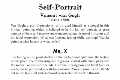Art Card - Vincent van Gogh - Self-Portrait - Back