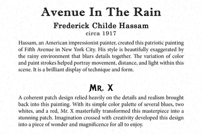 Art Card - Avenue in the Rain - Back