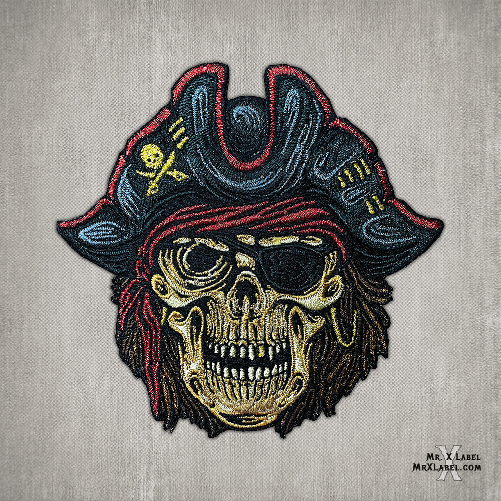 Calico Jack Pirate Skull Patch