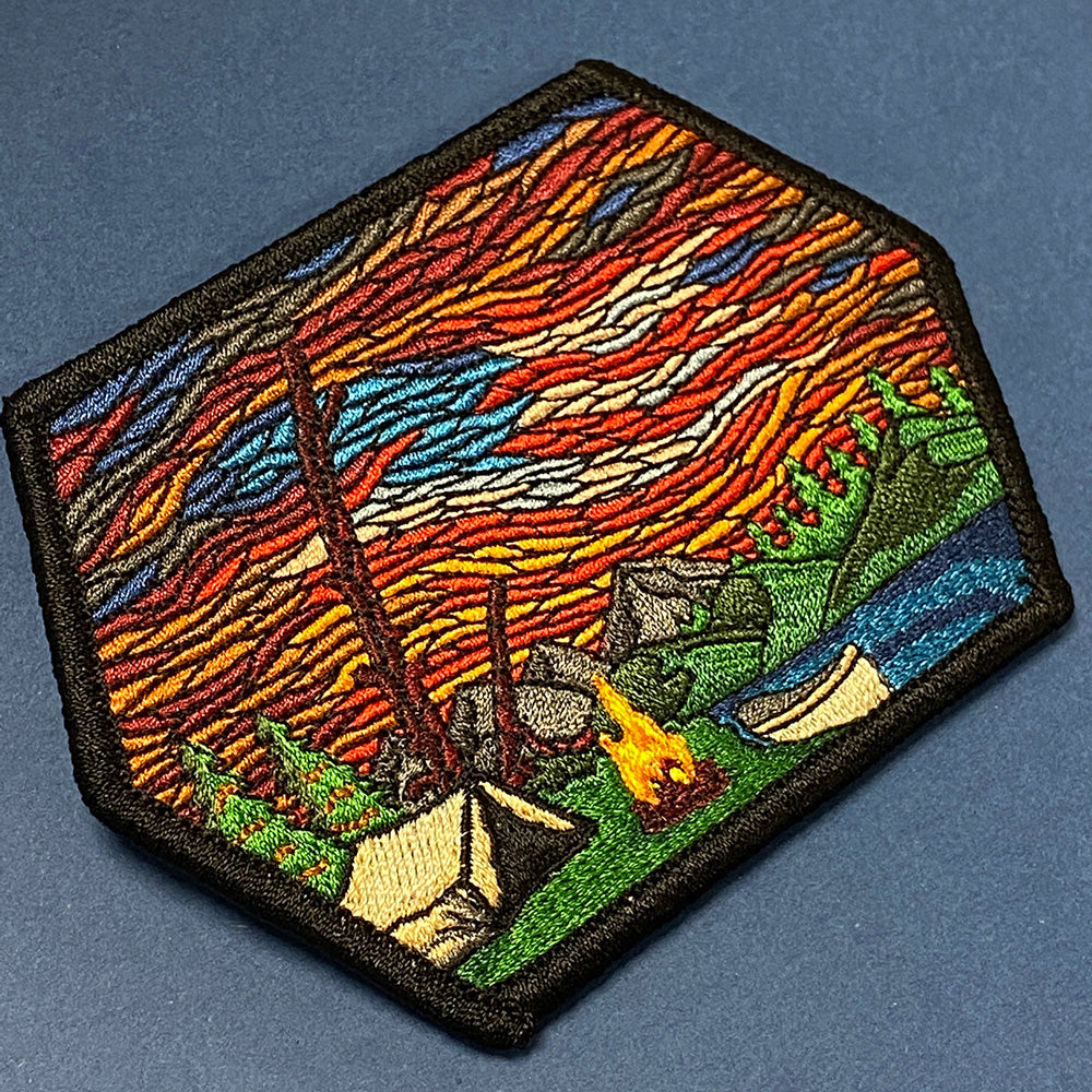 Camp Fire Our Banner in the Sky Embroidered Patch