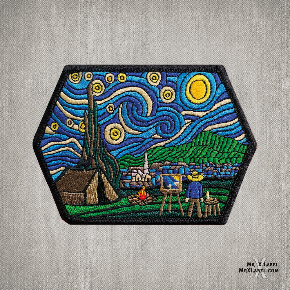 Camp Fire Starry Night v.Day Embroidered Patch