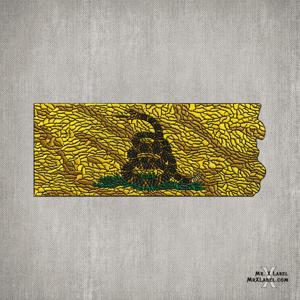 Dont Tread On Me Flag Embroidered Patch