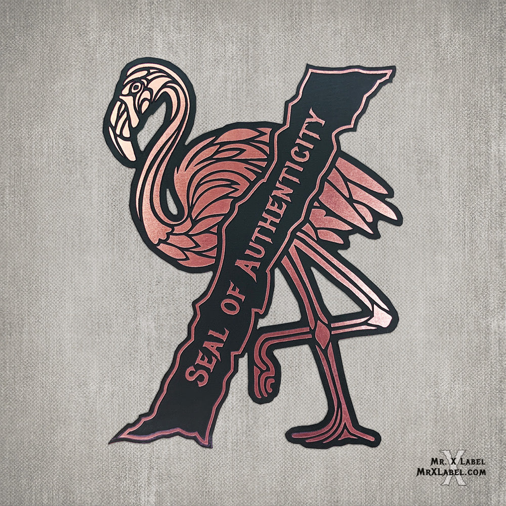 Flamingo Seal X - Rose Gold Acrylic Patch