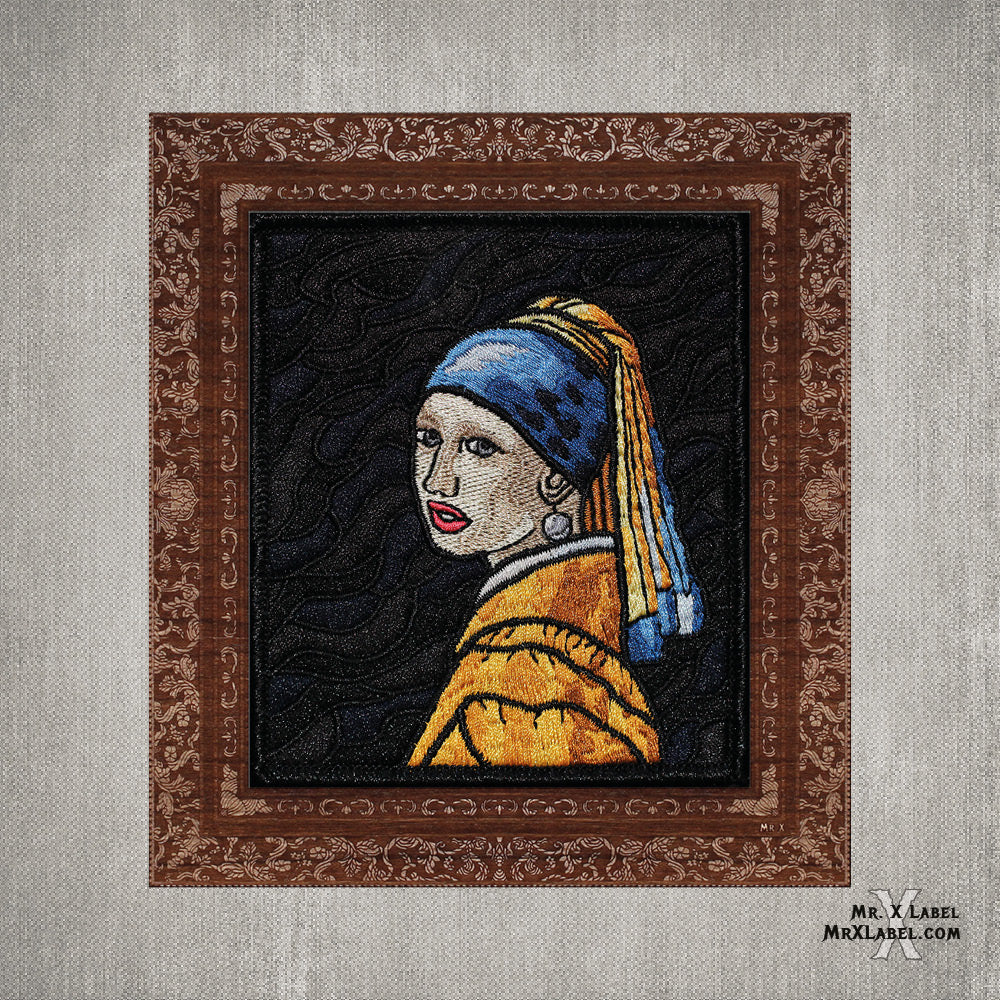 Girl with a Pearl Earring Embroidered Patch