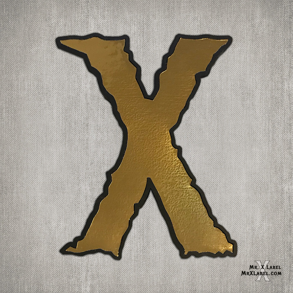 Golden X by Skinz Leather Patch