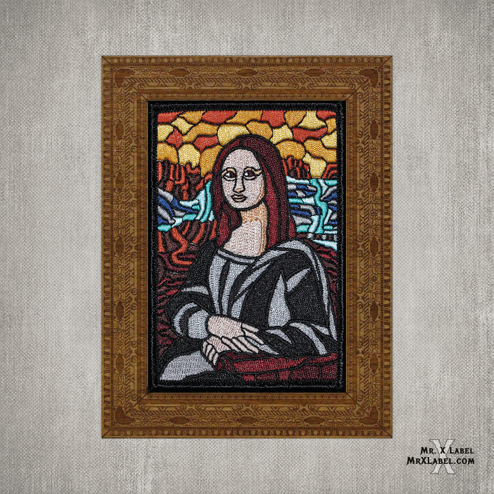 Mona Lisa Embroidered Patch