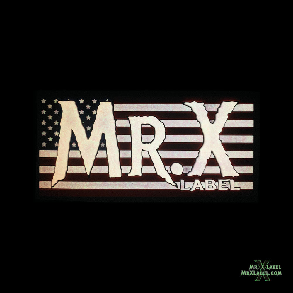 Mr. X Label v6 (American Flag) PVC Patch