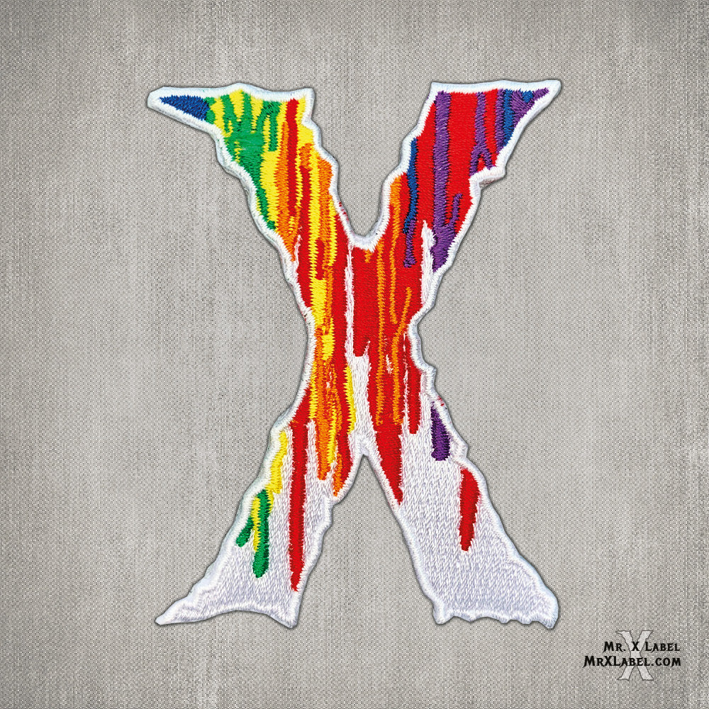 Paint Drip X v1 Embroidered Patch