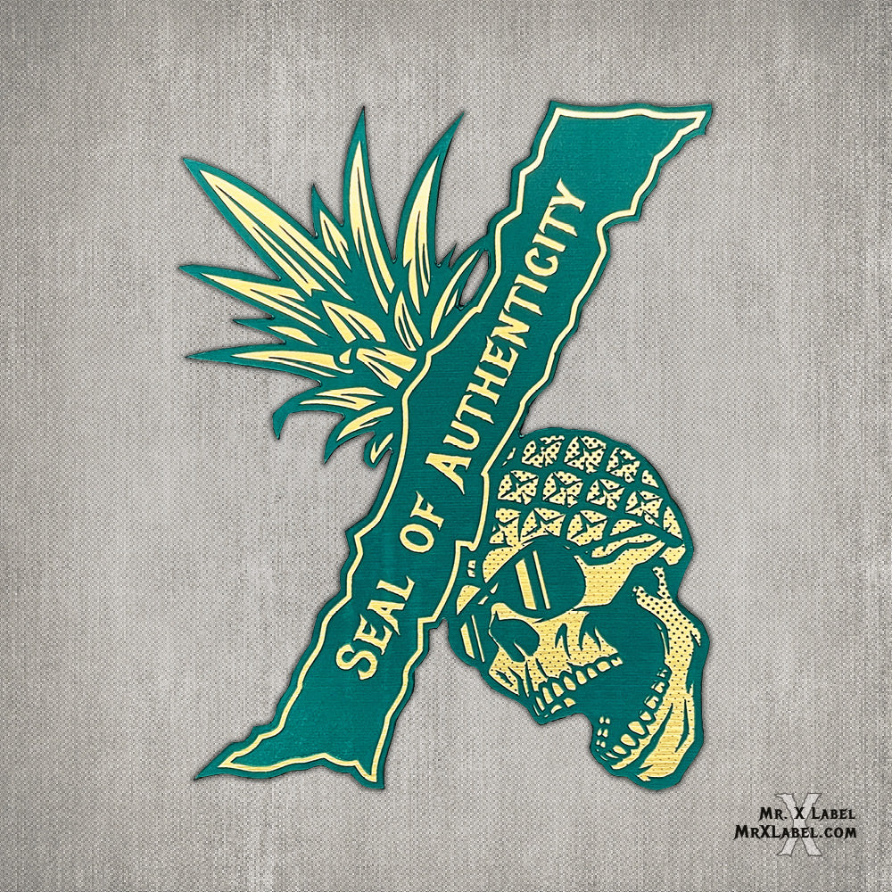 Pineapple Skull Seal X Patch