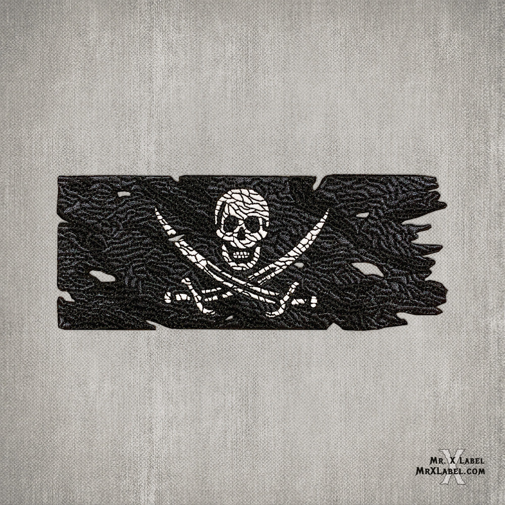 Pirate Flag v1 (Glow) Embroidered Patch