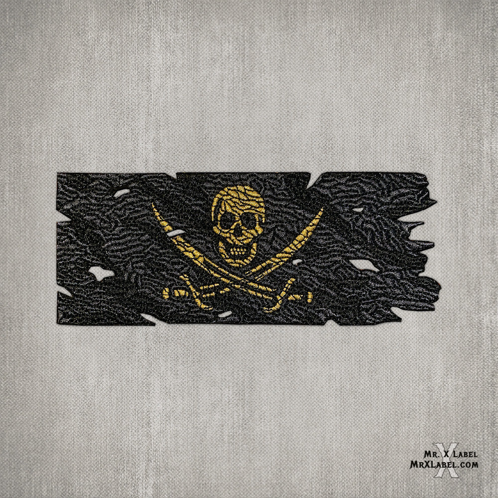 Pirate Flag (Gold) Embroidered Patch